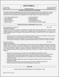 Construction Manager Resume Sample Fresh As 30 Elegant Examples For Transportation Managers