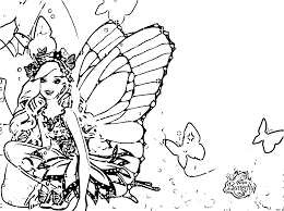 Amazing Printable Barbie Mariposa Cartoon Coloring Pages For Kids