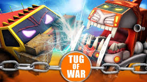 Crypto Trucks | Tug Of War | Good Vs Bad | Sasquash Vs Funky Truck ...