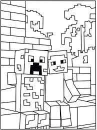 Minecraft Colouring Pages Art Galleries In Coloring