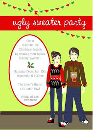 Ugly Sweater Christmas Party Invitations Wording Printable Best For An Images On Of