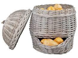 kartoffelkorb weidenkorb zur kartoffel aufbewahrung küche vintage landhausstil