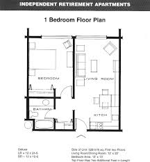 Large 1 Bedroom Apartment Floor Plans Incredible Cool 3D One Modern