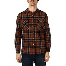 bowery long sleeve flannel shirt rust