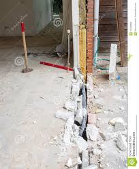 100 Sliding Exterior Walls Removing A Wall And Placing A Glass Door Stock Image