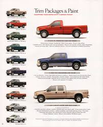 100 Ford Truck Colors 1999 Super Duty FSeries Sales Brochure