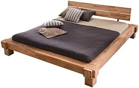 unbekannt massivholz bett 200 x 200 cm aus kernbuche balkenbett massives holzbett als doppel und komfortbett verwendbar 1 bett á 200 x 200 cm