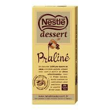 nestlé dessert chocolat à pâtisser au praliné 170g houra fr