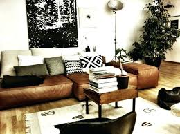 Brown Leather Sofa Decorating Living Room Ideas by Leather Sofa Alessia Leather Sectional Living Room Furniture