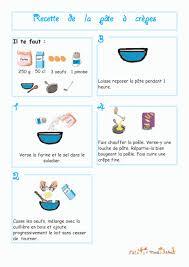 imprimer la recette de la pâte à crêpe illustrée chanson enfant