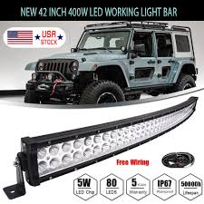 4D 42INCH 400W Curved LED Light Bar Flood Spot Combo Off Road Truck ... 300w 52 Curved Work Led Light Bar Fog Driving Drl Suv 4wd Boat 20 630w Trirow Cree Combo Truck Atv 53 Razor Extreme Lightbarled Light Barsled Outfitters Chevy Ck Roof Mount For Inch Curved 8998 92 5 Function Trucksuv Tailgate Brake Signal Reverse 052015 Toyota Tacoma 40inch Rack Avian Eye Tir Emergency 3 Watt 63 In Tow Light Rough Country Black Bull W For 0717 50inch Philips Flood Spot Lamp Offroad 13inch Double Row C3068k Big Machine Isincer 7 18w Automotive Waterproof Car