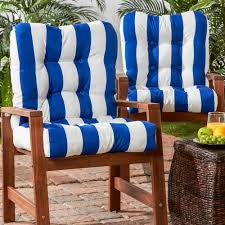 Greendale Home Fashions Cabana Stripe Blue Outdoor Dining Chair Cushion  (2-Pack) Lily Navy Floral Ikat Accent Chair Navy And Crimson Ikat Ding Chair Cover Velvet Ding Chairs Tufted Blue Meridian Fniture C Angela Deluxe Indigo Pier 1 Imports Homepop Parson Multicolor Set Of 2 A Quick Living Room And Refresh Stripes Whimsy Loralie Upholstered Armchair With Walnut Finish Polyester Stunning And Brown Ideas Ridge Table Eclectic Decatorist Espresso Wood Ode To The Skirted Katie Considers