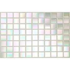 Iridescent Mosaic Tiles Uk by Pearl White Iridescent Straight Edge Mosaic Tiles