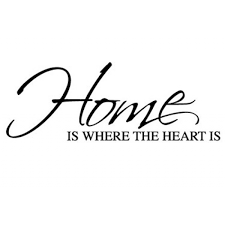 Home Is Where The Heart Quote Mesmerizing Wall Sticker