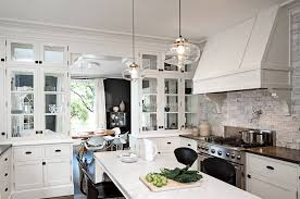 magnificent brushed nickel pendant lighting kitchen hammered shade