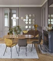 stuhl im skandinavischen stil mit samtbezug taupe maisons du monde