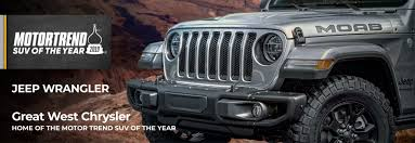Motor Trend Winner: Jeep Wrangler - Great West Chrysler