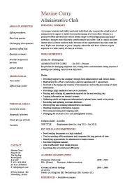 Resume Samples Clerical Skills