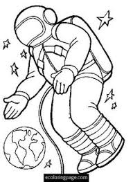 astronaut clipart black and white 9