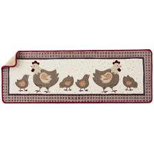 tapis d evier de cuisine tapis cuisine motif cocotte et ses poussins blancheporte