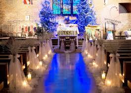 Winter Church Wedding Decorations White Sticks Candle Pinteres
