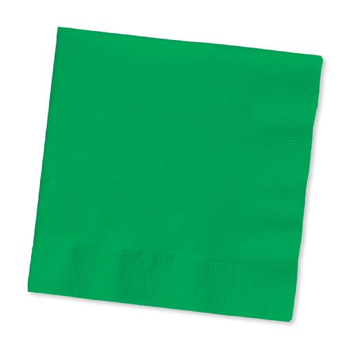 Creative Converting 58112B Napkin Lunch - Green, 10ct