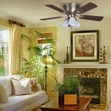 Harbor Breeze 52 Inch Ceiling Fan by Shop Harbor Breeze Centreville 42 In Antique Brass Flush Mount
