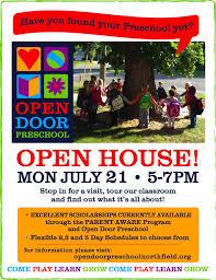 Open House July 21 – Open Door Preschool