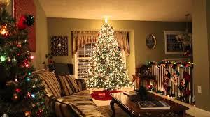 Flocked Christmas Trees Kmart by Rotating Christmas Tree 2015 Youtube