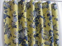 Tahari Home Curtains Yellow by Awesome Yellow And Blue Shower Curtain Gallery Best Idea Home