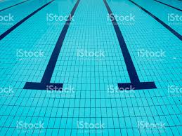 Swimming Pool Underwater Lane Water Surface Sport Outdoor Royalty Free Stock Photo