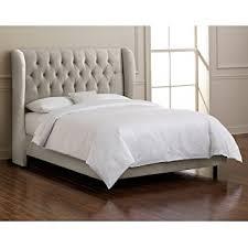 Purple Velvet King Headboard by Amazon Com Skyline Furniture Velvet Queen Tufted Wingback Bed