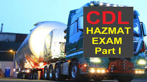 2017 CDL Hazardous Material HAZMAT Endorsement Exam Questions And ...