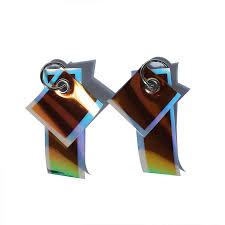 Mashama X Lofi Designer Genuine Fashion Reverse Print Color Light Irregular Earrings