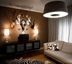 Animal Print Bedroom Decorating Ideas by Contemporary Family Room With Rug Animal Print Accents 5023