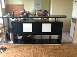 cuisine sur mesure ikea table de bar avec kallax bidouilles ikea table bar kallax table