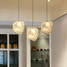 Personality Ice Lustre Glass Pendant Lamp Modern Crystal Heart Shade Lights Home Deco DIY Dining
