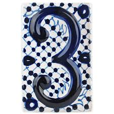 Mexican Tile House Numbers With Frame by Mexican Talavera Tile Hand Painted Ceramic Mexican Tiles