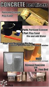 Sturdy Bed Risers by Quick How To Make Concrete Bed Risers Planters A Dream Come
