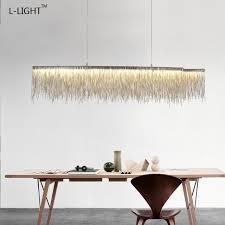 aliexpress buy tassel chain aluminum luxucy led light