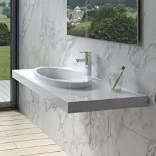 adm badezimmer design weiß glänzend stein kunstharz spüle dw