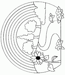 Nature Coloring Pages Mushroom Page For Kids