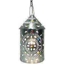 Mexican Punched Tin Lamp Shades by Punched Tin Lighting Mexican Gorgeous Lanterns For The Home Lights