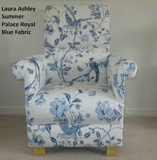 Laura Ashley Summer Palace Royal Blue Fabric Adult Chair Birds ... Items In Buttonbacks Com Shop On Ebay Velvet Chairs Fniture Ding Laura Ashley Chair Designer Awning Stripe Duck Egg Blue Fabric Cushion Table And Bench Bramley Cream Rocking Ebay Articles With Tag Astonishing Leather Sofa Made To Order Chaise Lounge Love This Stylewould Be Great Purple Lvet Or Orange Josette Fabric Adult Armchair