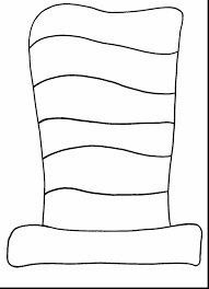 Magnificent Dr Seuss Hat Template With Cat In The Coloring Page And