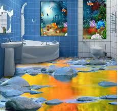 3d boden tapeten 3d stereoskopischen stein wasser badezimmer boden fliesen pvc wasserdichte boden zu hause dekoration
