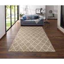 my home wollteppich lior rechteckig 10 mm höhe reine wolle top qualität rauten design wohnzimmer