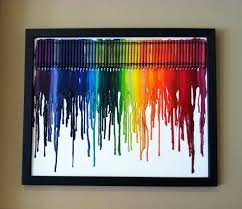 Melty Crayon Canvas Art