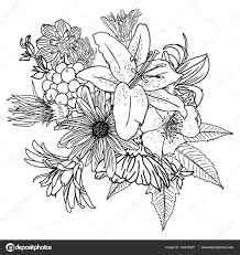 Download image nice flower bouquet drawing easy