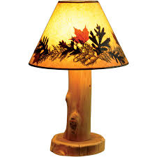 Rustic Lamp Shades For Table Lamps Cedar Log Decorative 7